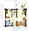 78-proekt.ru - Проект Одноквартирного Дома №83.  План Первого Этажа
