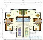 78-proekt.ru - Проект Двухквартирного Дома №18.  План Первого Этажа