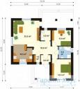 78-proekt.ru - Проект Одноквартирного Дома №219.  План Первого Этажа