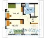 78-proekt.ru - Проект Одноквартирного Дома №178.  План Второго Этажа