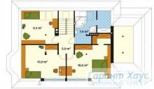 78-proekt.ru - Проект Одноквартирного Дома №132.  План Второго Этажа