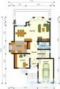 78-proekt.ru - Проект Одноквартирного Дома №107.  План Первого Этажа