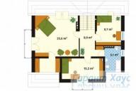 78-proekt.ru - Проект Одноквартирного Дома №187.  План Второго Этажа