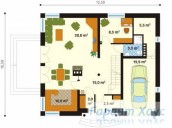78-proekt.ru - Проект Одноквартирного Дома №193.  План Первого Этажа