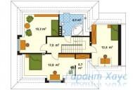 78-proekt.ru - Проект Одноквартирного Дома №74.  План Второго Этажа