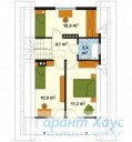 78-proekt.ru - Проект Одноквартирного Дома №292.  План Второго Этажа