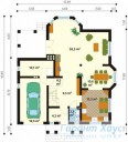 78-proekt.ru - Проект Одноквартирного Дома №297.  План Первого Этажа