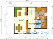 78-proekt.ru - Проект Одноквартирного Дома №135.  План Первого Этажа