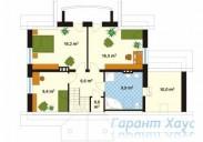 78-proekt.ru - Проект Одноквартирного Дома №95.  План Второго Этажа