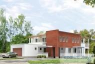 78-proekt.ru - Проект Одноквартирного Дома №163.  Вид №1