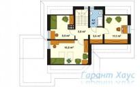 78-proekt.ru - Проект Одноквартирного Дома №173.  План Второго Этажа