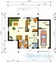 78-proekt.ru - Проект Одноквартирного Дома №196.  План Первого Этажа