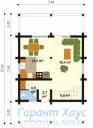 78-proekt.ru - Проект Дачного Дома №6.  План Первого Этажа