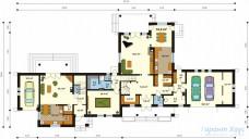 78-proekt.ru - Проект Двухквартирного Дома №10.  План Первого Этажа