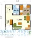 78-proekt.ru - Проект Дачного Дома №5.  План Первого Этажа
