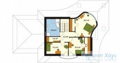 78-proekt.ru - Проект Одноквартирного Дома №6.  План Второго Этажа