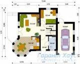 78-proekt.ru - Проект Одноквартирного Дома №184.  План Первого Этажа