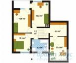 78-proekt.ru - Проект Одноквартирного Дома №271.  План Второго Этажа