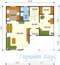 78-proekt.ru - Проект Одноквартирного Дома №182.  План Первого Этажа