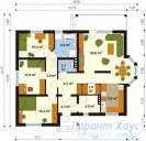 78-proekt.ru - Проект Одноквартирного Дома №232.  План Первого Этажа