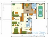 78-proekt.ru - Проект Одноквартирного Дома №210.  План Первого Этажа