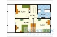 78-proekt.ru - Проект Одноквартирного Дома №135.  План Второго Этажа