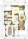 78-proekt.ru - Проект Одноквартирного Дома №316.  План Первого Этажа