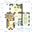 78-proekt.ru - Проект Одноквартирного Дома №86.  План Первого Этажа