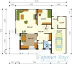 78-proekt.ru - Проект Одноквартирного Дома №120.  План Первого Этажа