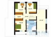 78-proekt.ru - Проект Одноквартирного Дома №119.  План Второго Этажа