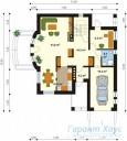 78-proekt.ru - Проект Одноквартирного Дома №146.  План Первого Этажа