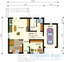 78-proekt.ru - Проект Одноквартирного Дома №74.  План Первого Этажа