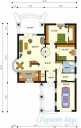 78-proekt.ru - Проект Одноквартирного Дома №51.  План Первого Этажа