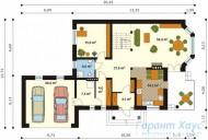 78-proekt.ru - Проект Одноквартирного Дома №16.  План Первого Этажа