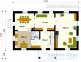 78-proekt.ru - Проект Одноквартирного Дома №343.  План Первого Этажа