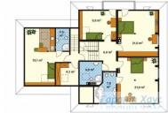78-proekt.ru - Проект Одноквартирного Дома №101.  План Второго Этажа