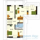 78-proekt.ru - Проект Одноквартирного Дома №209.  План Второго Этажа