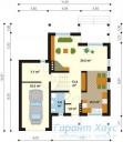 78-proekt.ru - Проект Одноквартирного Дома №307.  План Первого Этажа