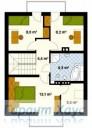 78-proekt.ru - Проект Одноквартирного Дома №161.  План Второго Этажа