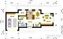 78-proekt.ru - Проект Одноквартирного Дома №302.  План Первого Этажа