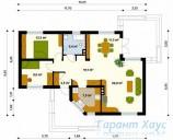78-proekt.ru - Проект Одноквартирного Дома №284.  План Первого Этажа