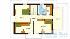 78-proekt.ru - Проект Одноквартирного Дома №156.  План Второго Этажа