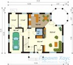 78-proekt.ru - Проект Одноквартирного Дома №65.  План Первого Этажа