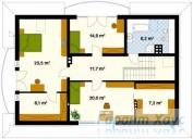 78-proekt.ru - Проект Одноквартирного Дома №24.  План Второго Этажа
