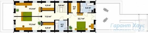 78-proekt.ru - Проект Одноквартирного Дома №87.  План Второго Этажа