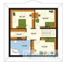 78-proekt.ru - Проект Одноквартирного Дома №256.  План Второго Этажа