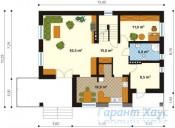 78-proekt.ru - Проект Одноквартирного Дома №188.  План Первого Этажа