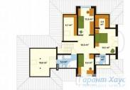 78-proekt.ru - Проект Одноквартирного Дома №3.  План Второго Этажа