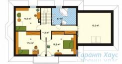 78-proekt.ru - Проект Одноквартирного Дома №155.  План Второго Этажа
