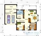 78-proekt.ru - Проект Одноквартирного Дома №201.  План Первого Этажа
